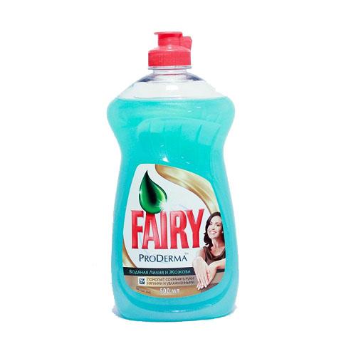 Cредство для мытья посуды FAIRY Про Дерма 500 мл Водяная лилия и Жожоба