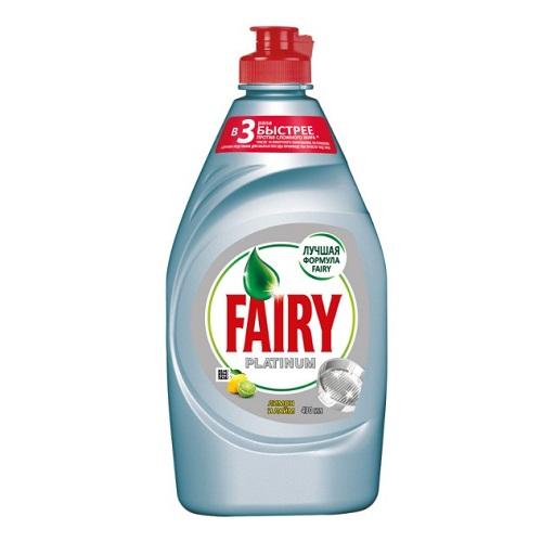 Средство для мытья посуды Fairy Platinum Лимон и лайм, 430 мл