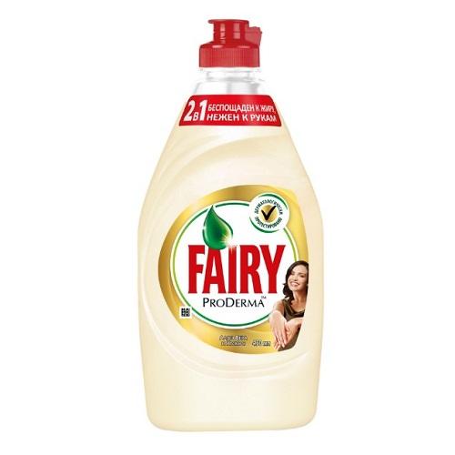 Средство для мытья посуды Fairy Pro Derma Алоэ Вера и Кокос, 450 мл