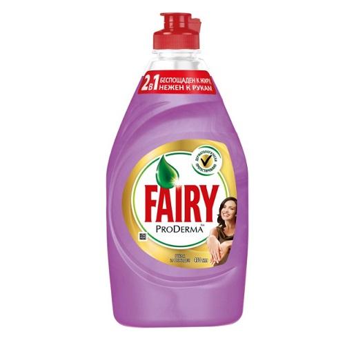 Средство для мытья посуды Fairy Pro Derma Шелк и Орхидея, 450 мл