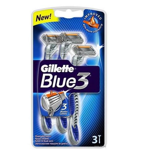 Станок для бритья одноразовый GILLETE Blue 3 3шт