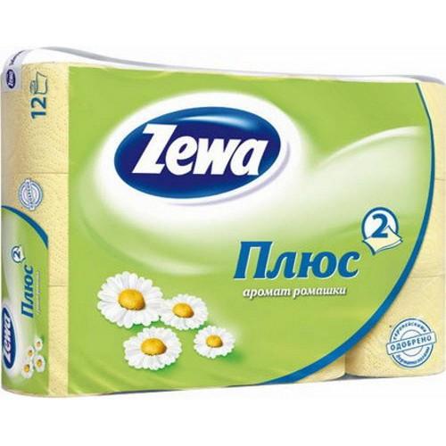 Туалетная бумага Zewa 2-х слойная 12 рулонов Ромашка