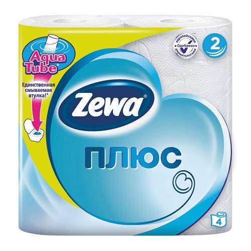 Туалетная бумага Zewa 2-х слойная 4 рулона Белая