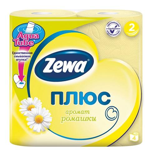 Туалетная бумага Zewa 2-х слойная 4 рулона Ромашка