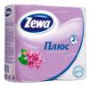 Туалетная бумага Zewa 2-х слойная 4 рулона Сирень