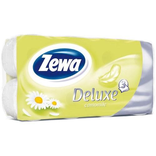 Туалетная бумага Zewa 3-х слойная 8 рулонов Делюкс Ромашка
