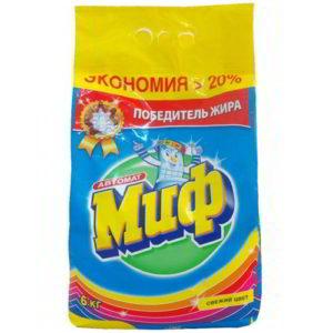 """Стиральный порошок """"Миф Свежий цвет"""" 6 кг"""