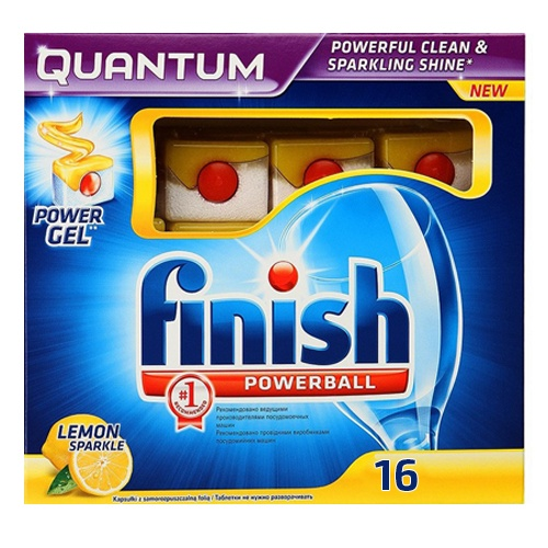 "Таблетки для посудомоечных машин ""Calgonit finish Quantum All in 1 лимон"" 16 шт"