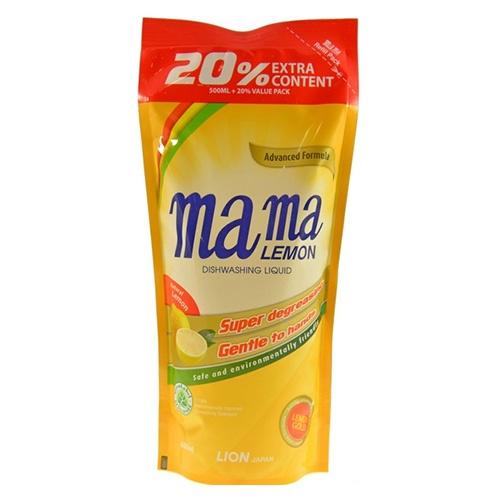 """Средство для мытья посуды """"MAMA LEMON Gold (Сменная упаковка)"""" 600 мл"""