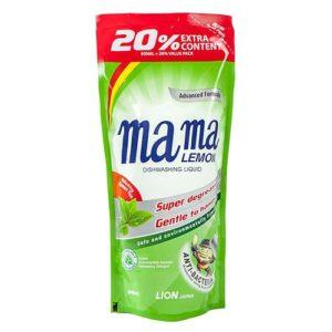 """Средство для мытья посуды """"MAMA LEMON Green Tea (Сменная упаковка)"""" 600 мл"""