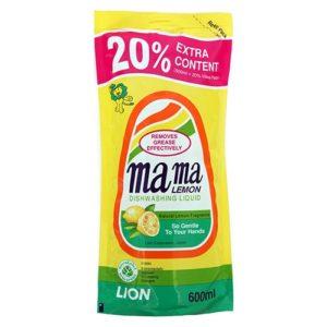 """Средство для мытья посуды """"MAMA LEMON Natural Lemon (Сменная упаковка)"""" 600 мл"""
