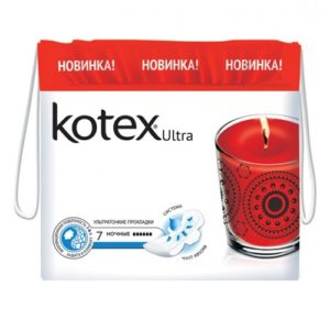 "Прокладки ""Kotex Ultra Dry&Soft Night"" 7 шт"
