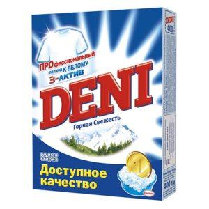 """Стиральный порошок для ручной стирки """"Deni Горная свежесть"""" 400 г"""