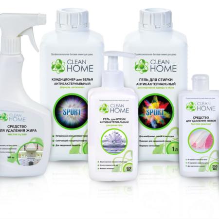 Средства для стирки и уборки от производителя Clean Home
