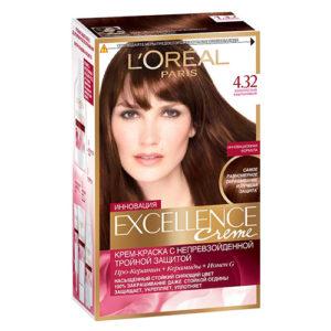 """Краска для волос """"Excellence Золотисто-каштановый (4"""
