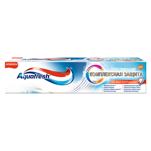 """Зубная паста """"Aquafresh Отбеливание"""