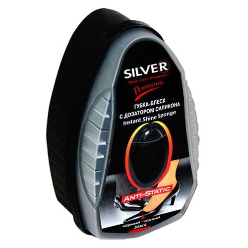 """Губка для обуви """"Silver С дозатором силикона"""