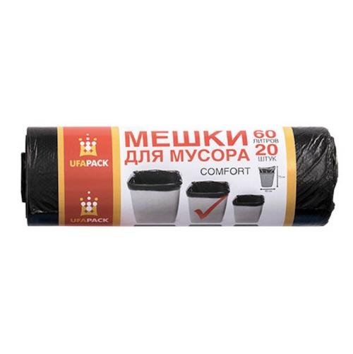 Мешки для мусора Комфорт UFAPACK 60 л 20 шт