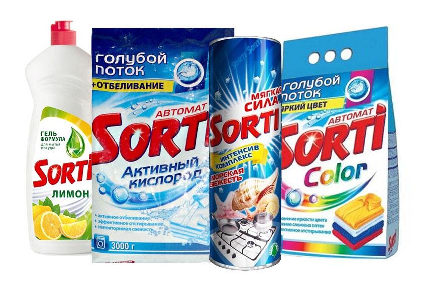 Средства для уборки Sorti (Сорти)оптом