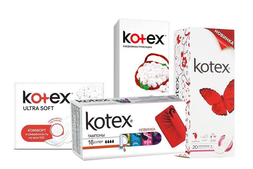 Гигиенические товары Kotex (Котекс)оптом