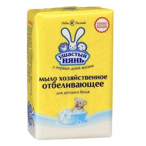Мыло хозяйственное Ушастый нянь 180 г отбеливающее